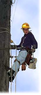 Seattle City Light Lineworker on the job