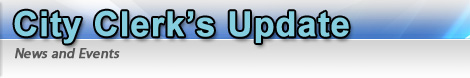 City Clerk's Update Home Page