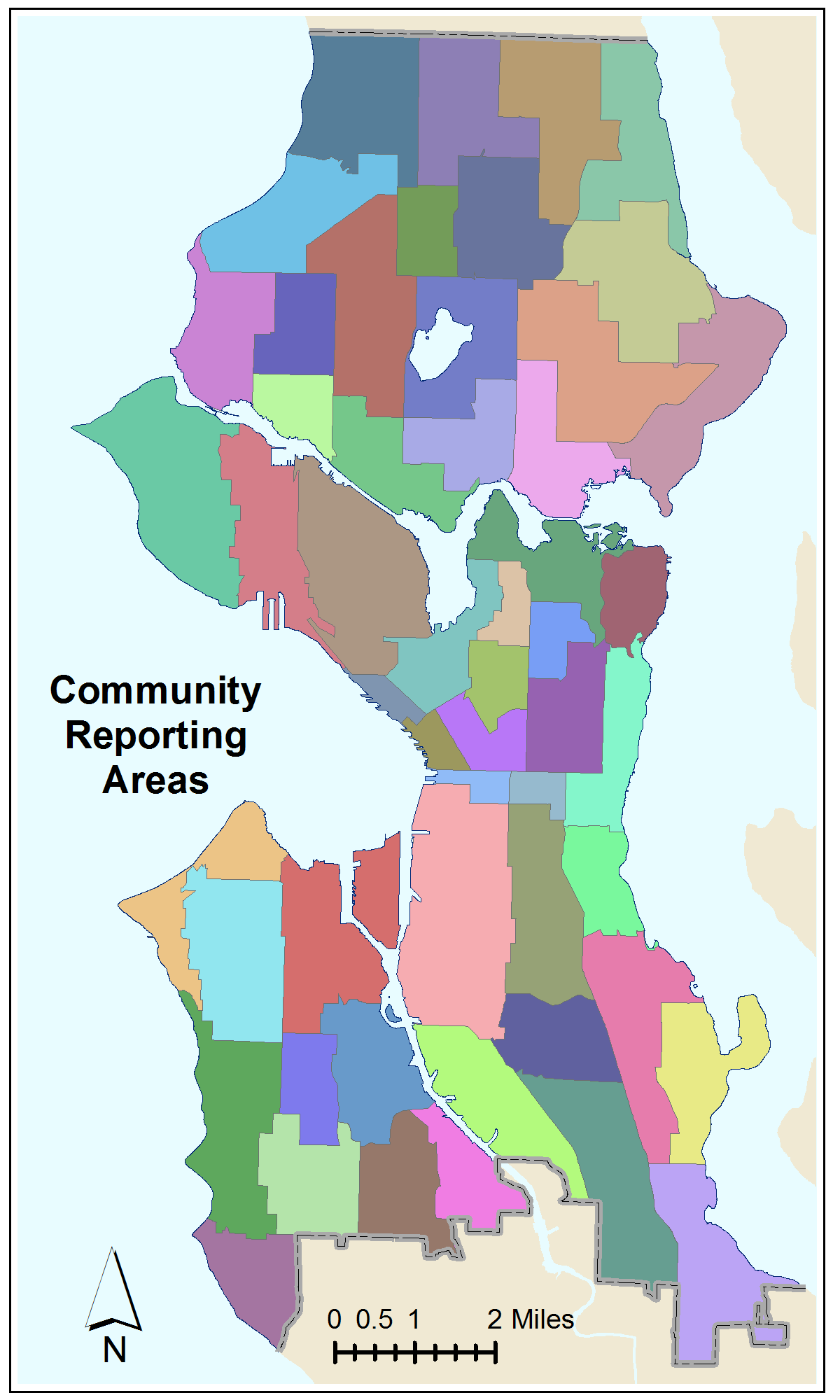 Census Community Reporting Areas Small Reference Map