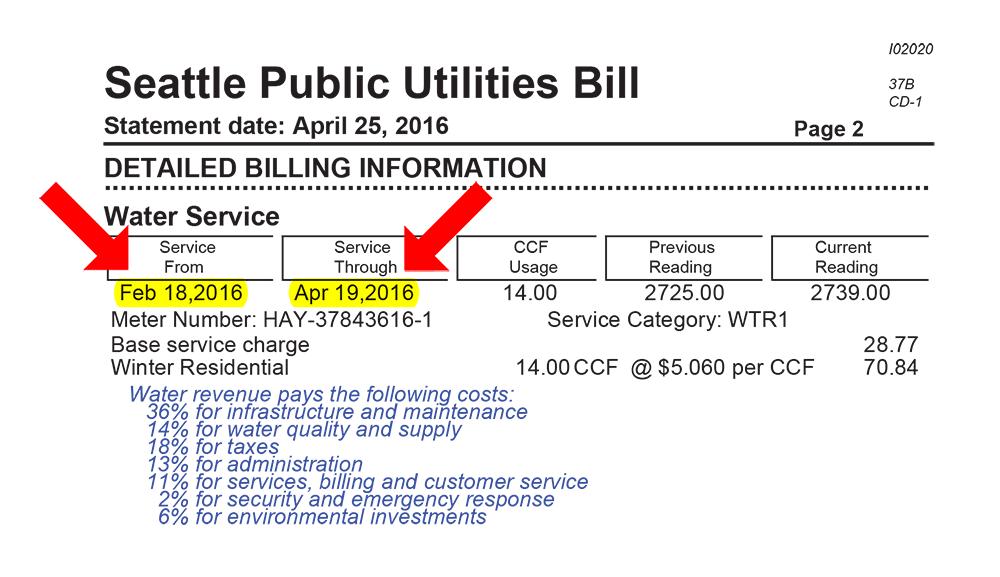 Landlord Billing Calculator - Utilities   seattle gov